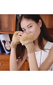 50 Γυναικεία Μονόχρωμο Χειμερινά Γάντια Μισά Δάχτυλα Γάντια 04a32b8ec59
