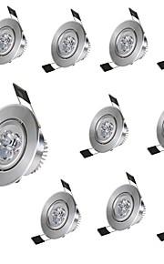 10pcs 3 W 300lm 3 LEDs Διακοσμητικό Χωνευτό Φως Θερμό Λευκό Ψυχρό Λευκό 85-265V Ιδιωτική Εσωτερικό Αρχική Κρεβατοκάμαρα Σαλόνι/Τραπεζαρία