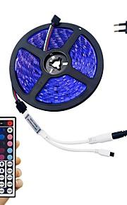 светло-барный комплект 5 м 5050 300 led rgb не водонепроницаемый 44-клавишный пульт дистанционного управления 12v 3a адаптер питания