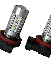 2pcs 9003 / H8 / 9006 Automatisch Lampen 35W SMD 3030 2800lm 10 Mistlamp For Universeel Alle Modellen Alle jaren