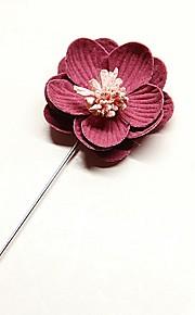 Homme Femme Broche Perle imitée Coréen Alliage Fleur Violet Bleu clair Rose dragée clair Vert clair Lavande Bijoux Pour Mariage Quotidien