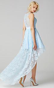 4013d6a4a1f Γραμμή Α Με Κόσμημα Ασύμμετρο Δαντέλα Φόρεμα Παρανύμφων με Ζώνη / Κορδέλα  με LAN TING BRIDE