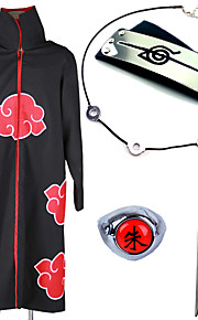에서 영감을 받다 나루토 Akatsuki / Itachi Uchiha 에니메이션 코스프레 코스츔 코스프레 정장 / 더 많은 악세서리 일본 애니메이션 망토 / 목걸이 / 머리띠 제품 남성용 / 여성용