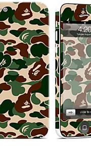 1 pezzo Autoadesivo della Pelle per Anti-graffi Mimetico A fantasia PVC iPhone 5c