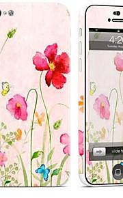 1 pezzo Autoadesivo della Pelle per Anti-graffi Fiore decorativo A fantasia PVC iPhone 5c