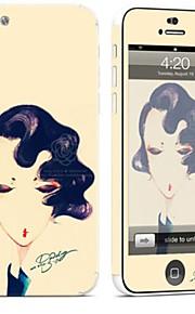 1 pezzo Autoadesivo della Pelle per Anti-graffi Sexy A fantasia PVC iPhone 5c