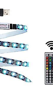 2м Наборы ламп 60 светодиоды 1 пульт дистанционного управления 44Keys RGB Можно резать USB Водонепроницаемый ТВ-фон Самоклеющиеся