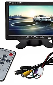 ZIQIAO 7 tommer (ca. 18cm) TFT-LCD Ledning Car Reversing Monitor Multifunktionelt display for Bil