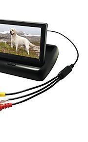 4.3 tommer (ca. 11cm) LCD Digital Skærm (bedre opløsning end analog skærm) 480p 1/4 tommer CMOS PC7030 Ledning 170 grader Bagende Kamera