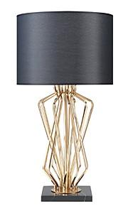 Artístico Decorativa Lámpara de Mesa Para Metal Blanco Negro