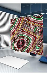 シャワーカーテン&フック クラシック 新古典主義 ポリエステル ノベルティ柄 機械製 防水 浴室