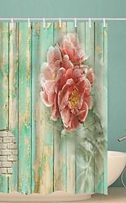 シャワーカーテン&フック コンテンポラリー ポリエステル ノベルティ柄 防水 浴室