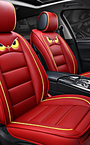 ODEER Seat Covers Red PU Leather Cartoon for universal All years All Models