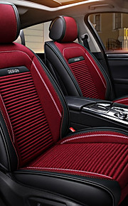ODEER Seat Covers Black/Red Textile PU Leather Common for universal All years All Models
