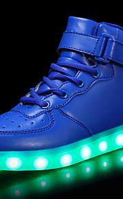 Poikien Tekonahka Lenkkitossut Taapero (9m-4ys) / Pikkulapset (4-7 vuotta) / Suuret lapset (7 vuotta +) Comfort / Välkkyvät kengät Solmittavat / Tarranauhalla / LED Punainen / Sininen / Pinkki Syksy