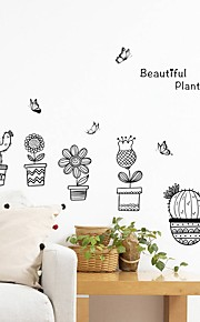 Adesivi decorativi da parete - Adesivi aereo da parete Floreale / Botanical Salotto Camera da letto Bagno Cucina Sala da pranzo Sala