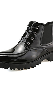 Men's Shoes PU Spring Fall Fashion Boots Comfort Boots for Wedding Office & Career Black