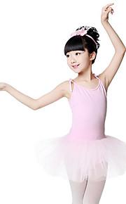 Ballet Vestidos Chica Entrenamiento Rendimiento Algodón Ceñido Sin Mangas Cintura Media Vestido