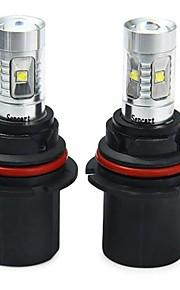 SENCART 2pcs 9007 / 9004 Bil / Motercykel Elpærer 30W SMD LED 1800-2100lm 6 LED Tågelys For Universel Alle år