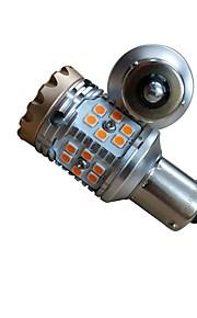2pcs BA15S / T20 / 1156 Bil Elpærer 15W 1500lm 30 LED Blinklys For Universel Alle Modeller Alle år