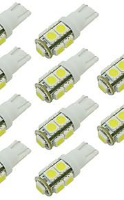 10pcs T10 Bil Elpærer 2W SMD 5050 90lm 9 LED Indvendige Lights For Universel / General Motors Universel Universal