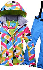GQY® Dámské Lyžařská bunda a kalhoty Voděodolný Zahřívací Větruvzdorné Lyže Zimní sporty Polyester Sady oblečení Oblečení na lyže / Zima