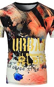 T-shirt Per uomo Sport Moda città Camouflage Rotonda Arcobaleno XL / Manica corta / Taglia piccola