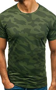 Herrn Einfarbig / camuflaje - Grundlegend Sport Baumwolle T-shirt, Rundhalsausschnitt Druck Weiß XL / Kurzarm