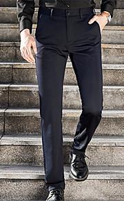 男性用 ベーシック スーツ パンツ - ソリッド ブルー