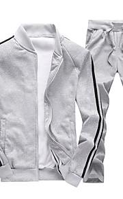 Ανδρικά Βασικό Παντελόνι - Συνδυασμός Χρωμάτων Μαύρο / Όρθιος Γιακάς / Αθλητικά / Μακρυμάνικο / Άνοιξη / Φθινόπωρο