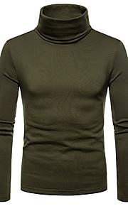 男性用 Tシャツ タートルネック ソリッド / 長袖
