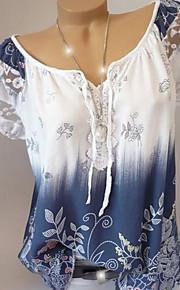 여성용 기하학 보트넥 플러스 사이즈 셔츠, 베이직 와인 XXXL