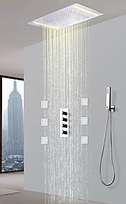 샤워 수전 - 콘템포라리 크롬 도자기 발브 Bath Shower Mixer Taps / 황동 / 네 핸들 다섯 홀