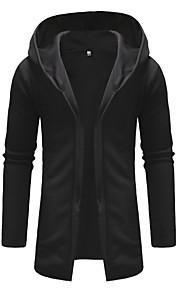男性用 ベーシック パンツ - ソリッド ブラック / フード付き / 長袖 / 冬 / ロング