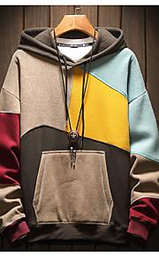 男性用 ストリートファッション パーカー - カラーブロック