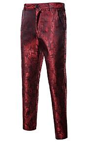 男性用 ストリートファッション スーツ パンツ - 幾何学模様 ブラック / スポーツ