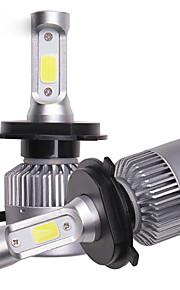 OTOLAMPARA 2pcs PK43T 차 전구 36 W COB 8000 lm 3 LED 헤드램프 제품 Volkswagen / Toyota / Nissan Versa / Rio / Optima 모든 년도