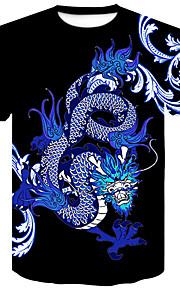 男性用 プリント Tシャツ ベーシック / ストリートファッション カラーブロック / 動物