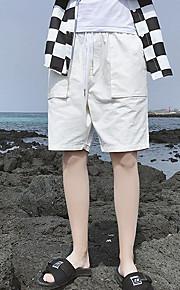 男性用 アジア人サイズ ショーツ パンツ - カラーブロック ライトブルー