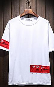 Hombre Chic de Calle Camiseta, Escote Redondo Letra Blanco XXXL / Manga Corta