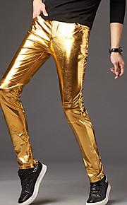 男性用 パーティー / ストリートファッション チノパン パンツ - ソリッド ゴールド