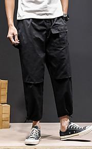 男性用 ストリートファッション プラスサイズ チノパン / カーゴパンツ パンツ - ソリッド ダックグレー