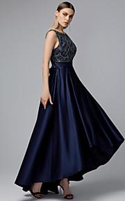 a84ea4e549b7 Linea-A Con decorazione gioiello Asimmetrico Di pizzo   Raso Ispirazione  Vintage Cocktail Vestito con