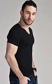 男性用 Tシャツ Vネック カラーブロック / 半袖