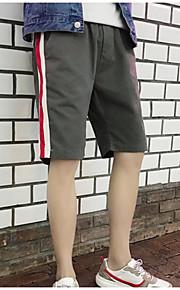 男性用 アジア人サイズ ショーツ パンツ - カラーブロック ブラック