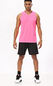 男性用 ストリートファッション プラスサイズ ルーズ スウェットパンツ パンツ - ソリッド ブラック / スポーツ
