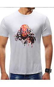 男性用 Tシャツ ラウンドネック スカル