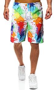 Erkek Plaj Tarzı / Tropik Chinos / Şortlar Pantolon - Gölgelendirme Gökküşağı