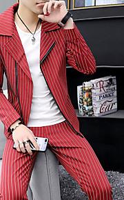 男性用 スーツ, ソリッド ピークドラペル ポリエステル ホワイト / ブラック / ルビーレッド XL / XXL / XXXL
