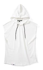 Ανδρικά Αμάνικη Μπλούζα Μονόχρωμο Με Κουκούλα Λευκό XL